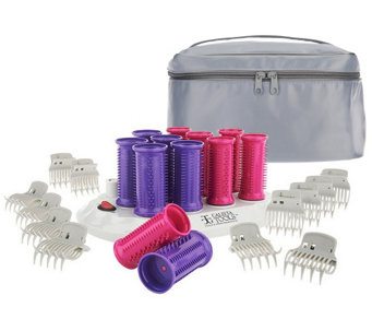 Calista Set of 12 Ion Hot Rollers with Clips & Travel Bag - A235589