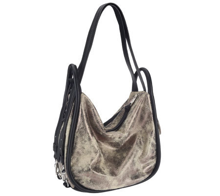 Aimee Kestenberg Pebble Leather Convertible Hobo