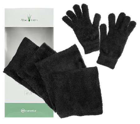 Aloe Vera Infused Gloves & Scarf Gift Box Set