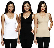 Cami Shaper by Genie Set of 3 Shaping Camisoles - A240489
