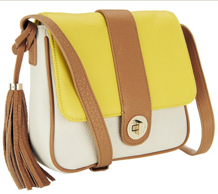 Isaac Mizrahi Live! Bridgehampton Leather Crossbody
