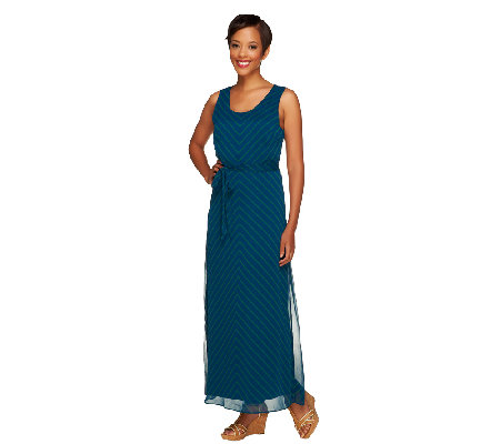 Isaac Mizrahi Live! Chevron Print Maxi Dress