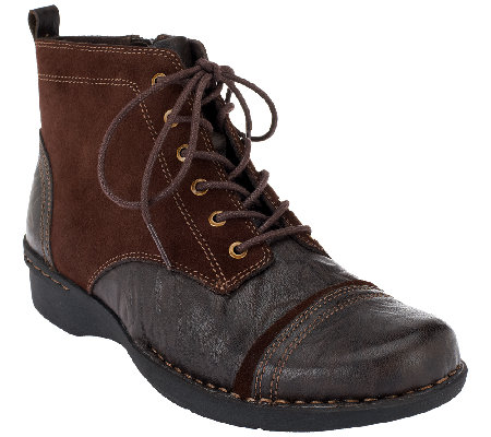 Clarks Leather & Suede Lace-up Boots - Whistle Watch