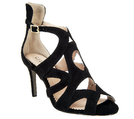 """As Is"" G.I.L.I Seville Suede Pumps with Cut-out Detail"