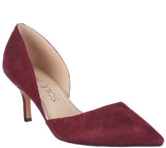 Sole Society Suede Mid-heel Pumps - Jenn - A259489