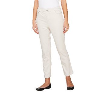 Liz Claiborne New York Jackie 5 Pocket Slim Leg Ankle Pants - A261289
