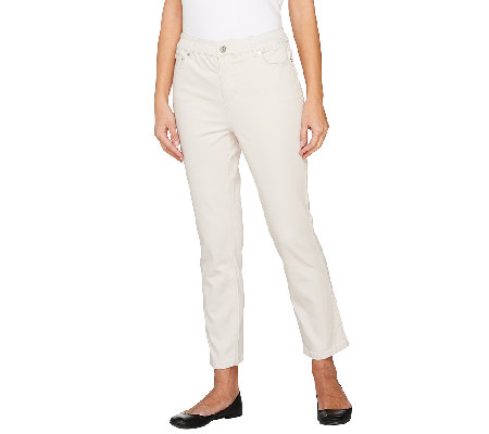 Liz Claiborne New York Jackie 5 Pocket Slim Leg Ankle Pants