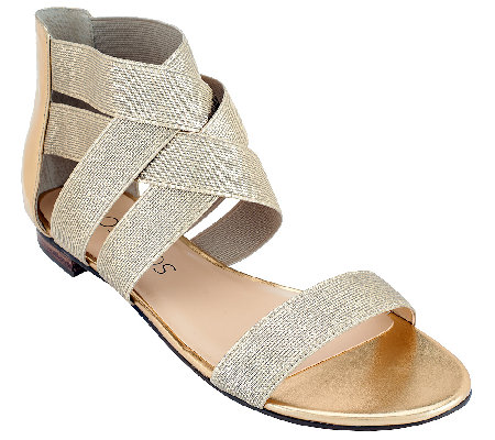 Sole Society Stretch Criss Cross Strap Sandals - Aggie