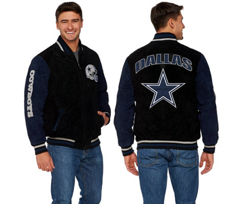 NFL Dallas Suede Zipper Front Jacket