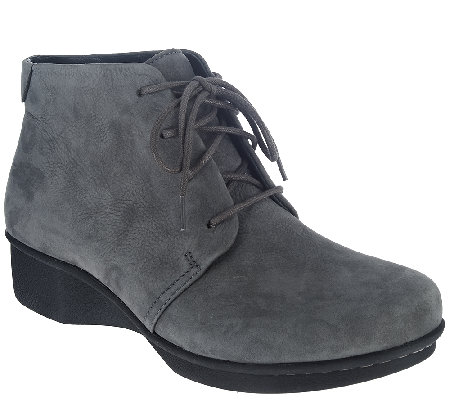 Dansko Stain Resistant Lace-up Ankle Boots -Lucille