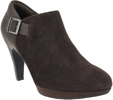 Clarks Leather_& Suede Booties - Narine Ada
