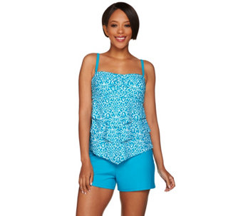 Ocean Dream Signature Miramar Tiered Ruffled Tankini Swimsuit - A274589