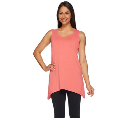 Denim & Co. Essentials Sleeveless Trapeze Hem Knit Top