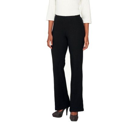 """As Is"" Women with Control Regular Boot Cut Pants with Side Seam"