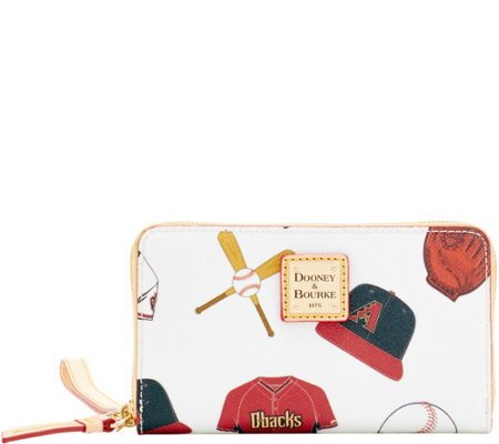 Dooney & Bourke MLB Diamondbacks Zip Around Phone Wristlet