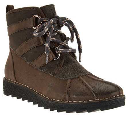 Clarks Somerset Leather Lace Up Boots - Olso Cove