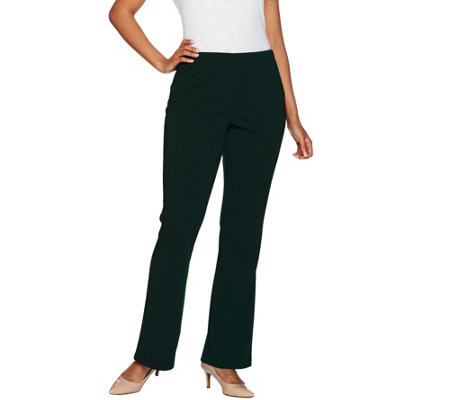 Susan Graver Tall Full Length Flare Pull-On Pants