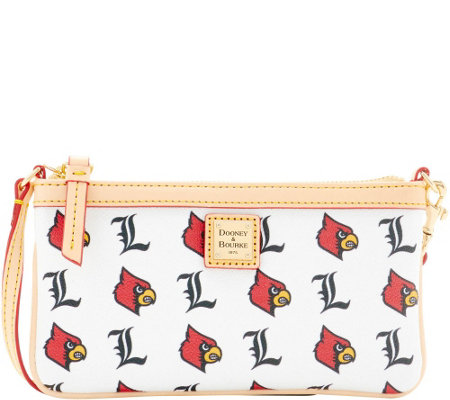 Dooney & Bourke NCAA University of Louisville Slim Wristlet
