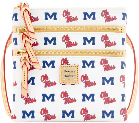 Dooney & Bourke NCAA Ole Miss University Zip Crossbody