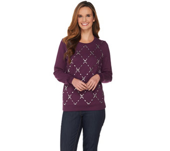 C. Wonder Brushed Back Sweatshirt with Embellishments - A284189