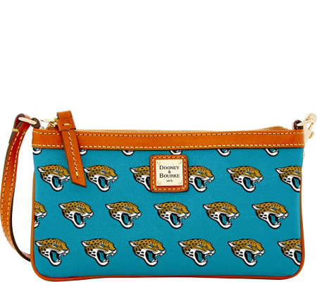 Dooney & Bourke NFL Jaguars Large Slim Wristlet