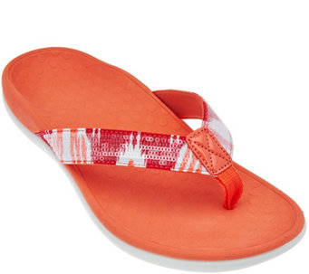 Vionic Orthotic Thong Sandals - Tide Sequins - A286389