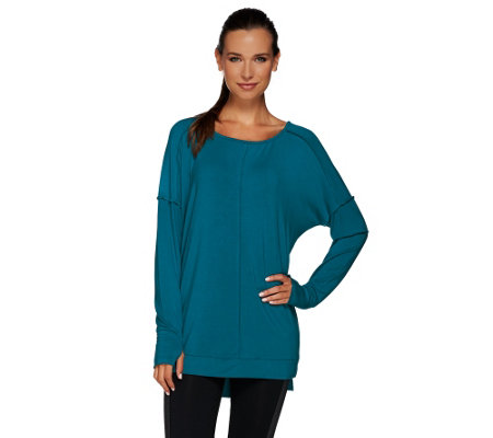 """As Is"" cee bee CHERYLE BURKE Long Sleeve Modal Top"