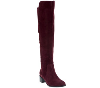 """As Is"" Marc Fisher Leather or Suede Over the Knee Boots - Idle - A288989"