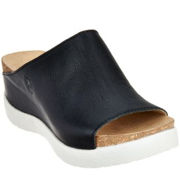FLY London Leather Slide Sandals - Wigg
