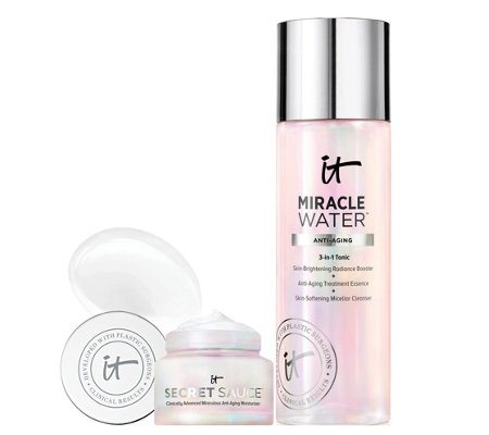IT Cosmetics Miracle Water 3in1 Glow Tonic with Deluxe Secret Sauce