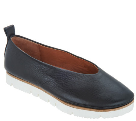 Gentle Souls Leather Slip-on Shoes - Demi