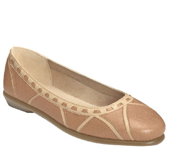 Aerosoles Stitch n Turn Leather Ballet Flat - Top Bet - A335889