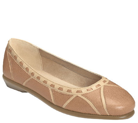 Aerosoles Stitch n Turn Leather Ballet Flat - Top Bet