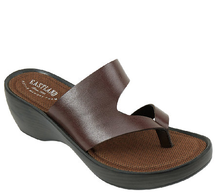 Eastland Leather Wedge Sandals - Laurel