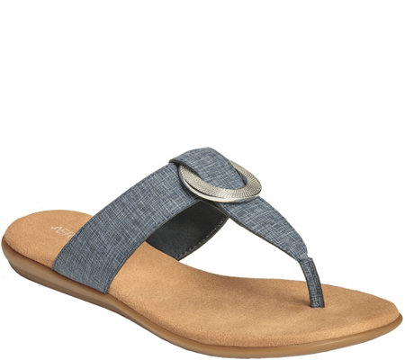 Aerosles Core Comfort Thong Slide Sandals - Supper Chlub