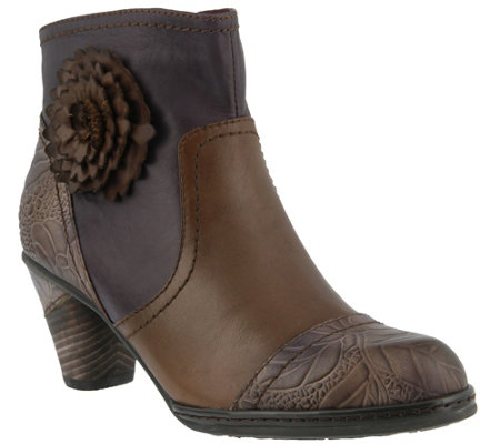 Spring Step L'Artiste Leather Ankle Boots - Neske