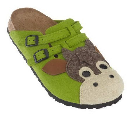 Birkis by Birkenstock Wool Animal Clogs Page 1 QVCcom