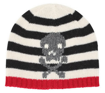 San Diego Hat Co Kid's Stripe Hat with Skull - A204490