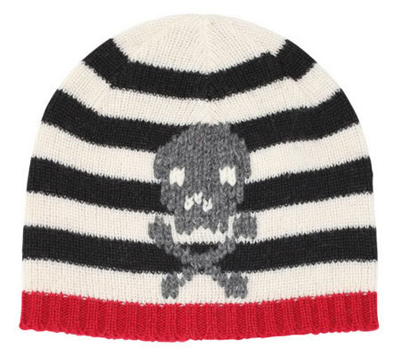 San Diego Hat Co Kid's Stripe Hat with Skull