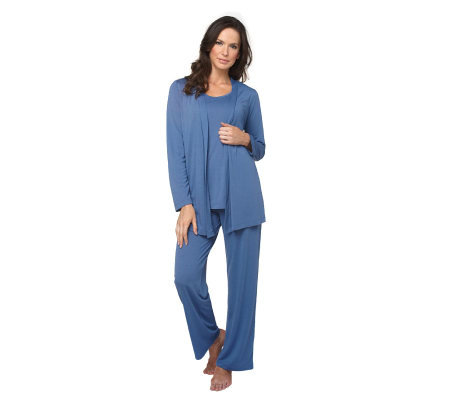 Liz Claiborne New York Cardigan, Tank & Pant 3 Piece Lounge Set