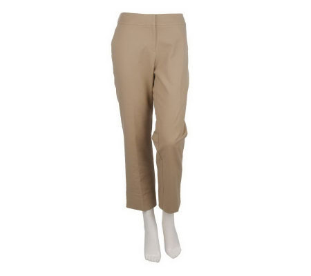 George Simonton Fly Front Ankle Pants with Back Elastic Detail