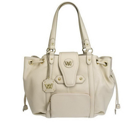 Wendy Williams Pebble Leather Cinched Tote