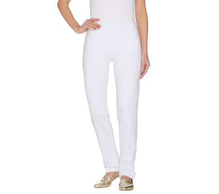 Women with Control Petite Slim Leg Pants w/Tummy Control