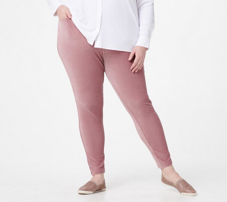 Denim & Co. Pull On Stretch Knit Cord Leggings