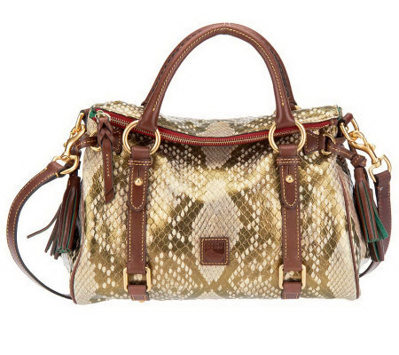 Dooney & Bourke Python Embossed Leather Small Satchel