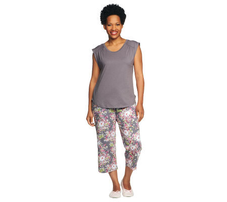 Carole Hochman Midnight Garden 2 Piece Pajama Set