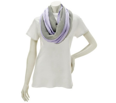 2-color Pleated Infinity Scarf by VT Luxe