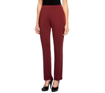 Susan Graver Regular Milano Knit Pull-on Pants with Pockets - A237690