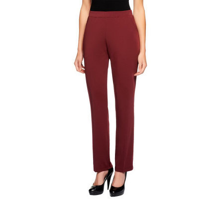 Susan Graver Regular Milano Knit Pull-on Pants with Pockets