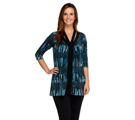 SA by Seth Aaron Printed Knit Tunic with Neckline Detail